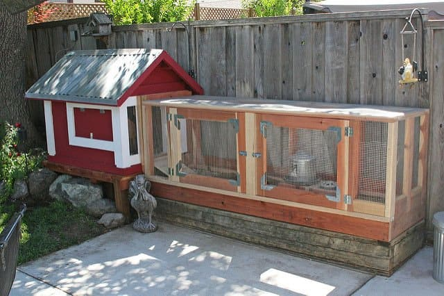Common materials used to build a chicken coop for Maintenance free chicken coop