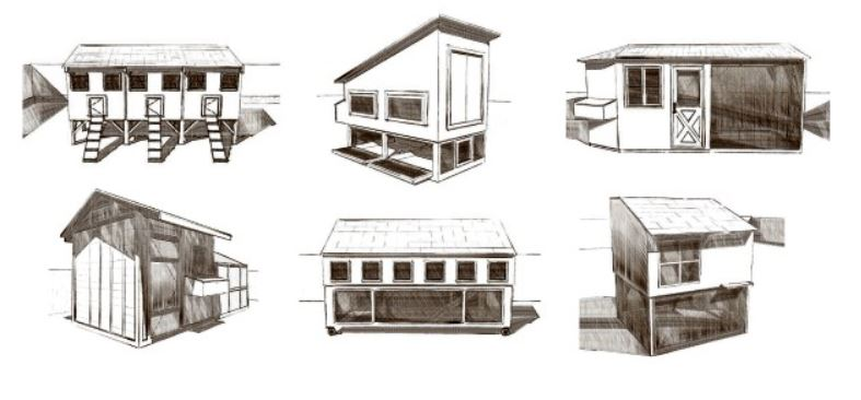 Sketch of available building plans