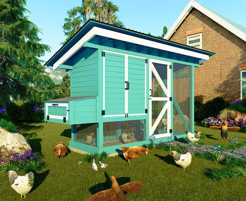 walk in chicken coop for 8 chickens