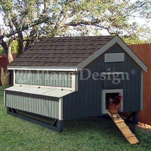 Gable Style Raised Hen House - 5x6 foot