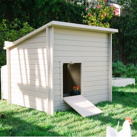 Small White Stationary Chicken Coop