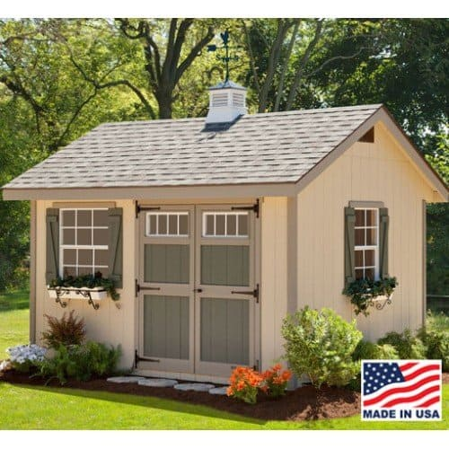 Tan shed style large chicken coop