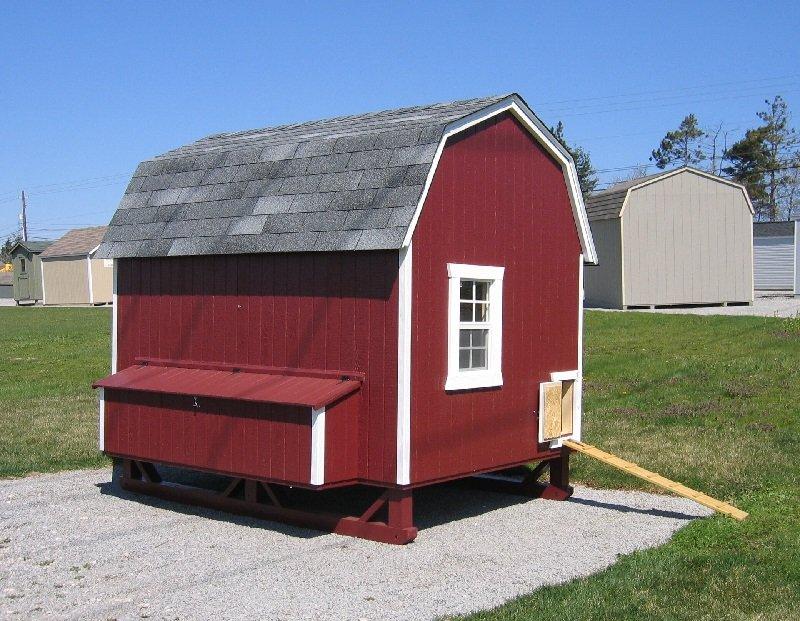 Red Barn Style Walk in Chicken Coop